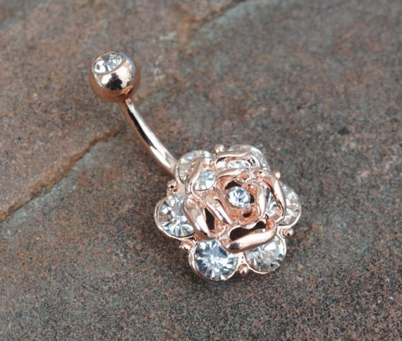 Big Flower Belly Button Rings