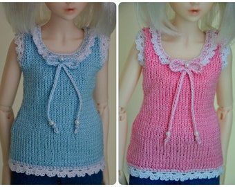 Knitted T-shirt for msd 1/4 bjd doll.