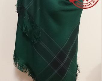 Green Blanket scarf, plaid blanket scarf, fashion scarves, blanket scarves, green blanket scarf, emerald wedding anniversary gift men