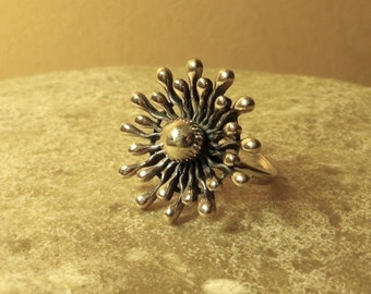 Sunflower Ring, Flower Jewelry, Floral Ring, Sun Ring, Gold Ring for Women, Gift for Women, Gift for Her, Bronze Ring, Bronze Jewelry