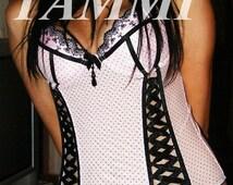 light pink corset lingerie