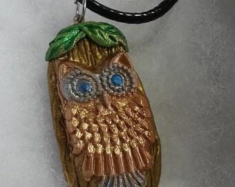 owl necklace ,owl pendant
