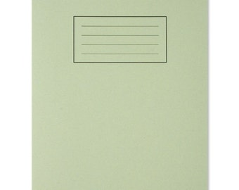 Green Lined A5 Paper Notebook, Exercise Book, Stationery