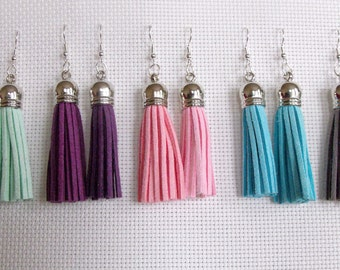Handmade Suede Tassel Earrings (5 COLOURS AVAILABLE)