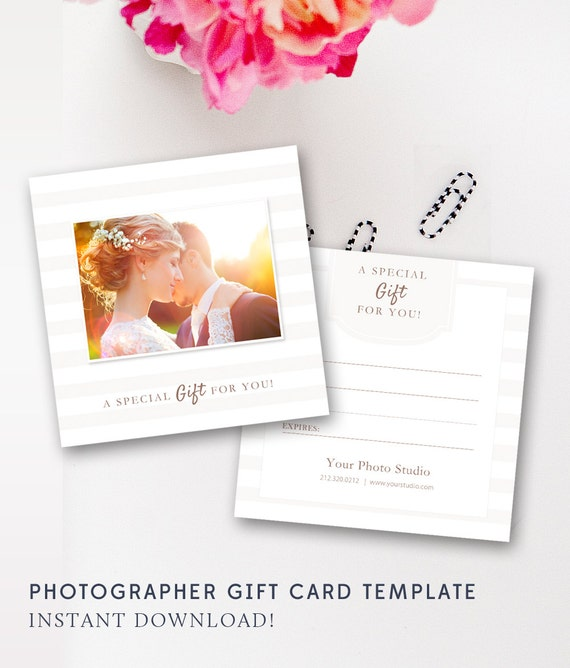 photography gift certificate template photo gift card. Black Bedroom Furniture Sets. Home Design Ideas