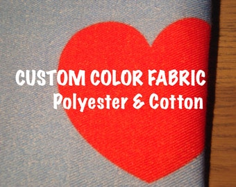 Custom Color Fabric, Fabric By Yard, Cotton Twill Fabric, Custom Cotton Fabric, Fabric 60x36
