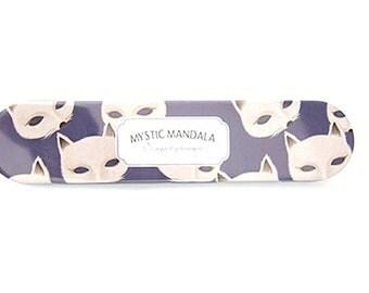 Cute Tin Pencil Case-Cat/Mystic Mandala/Metal/School Pencil Box/storage/Design/Organizer/Study/light/kawaii/small/Kitty/Purple