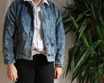 Small vintage Acid Wash lightweight denim jacket