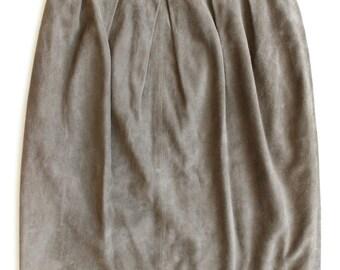 "Beautiful Salvatore Ferragamo suede pencil skirt in olive green, size 28-29"""
