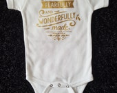 Baby bodysuit with scripture, baby tshirt with bible verse, Christian baby gift, new baby, trendy baby clothes, unisex baby clothes