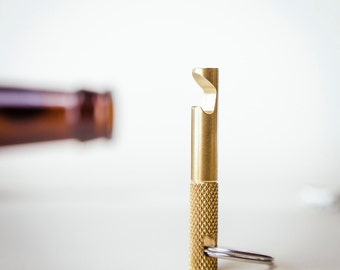 Keychain Bottle Opener - EDC Tool Brass  - CNC Keychain Tool
