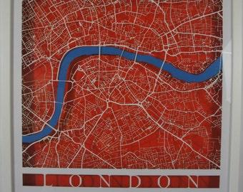 London - Laser Cut Map - White