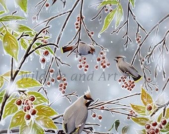"Song Birds Limited Edition Art Print - ""Tropical Paradise"" by Chuck Black"