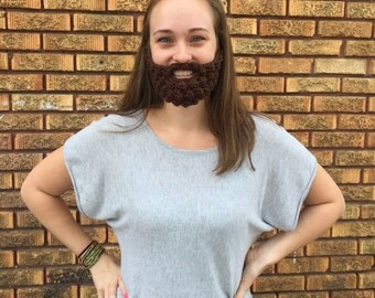 6 Colors! Crochet Beard Baby, Child, or Adult