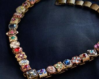 Victorian Necklace, Wedding Necklace, Statement Necklace, Renaissance Necklace, Collar Necklace, Slide Necklace, Renaissance Jewelry N636