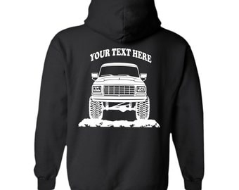 FORD BRONCO F150 F250 f350 1979 Truck  Offroad 4x4  Personalized Black Pullover Hoodie! 50/50 cotton/polyester  - #HOR005