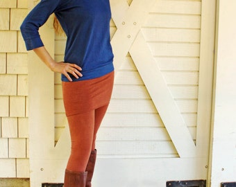 Skirted Leggings.  Hemp, Organic Cotton, Lycra