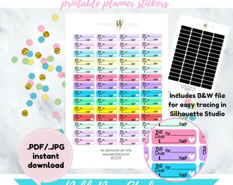 Item #0339 Bill Due Label Stickers (perfect for planners)