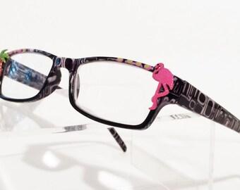 Reading glasses Pink Flamingo Palm +2.75, Flamingo glasses