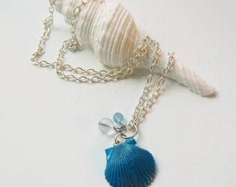 Seashell Necklace - Seashell Jewelry - Scallop Shell Necklace - Shell Jewelry - Mermaid Jewelry - Beach Jewelry - Mermaid Necklace -Seashell