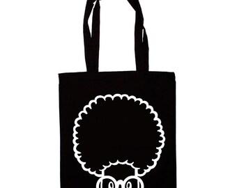 Cactus Tote Bag! Black Cotton Tote, Cactus Tote, Cactus Bag! Cotton Tote Bag!