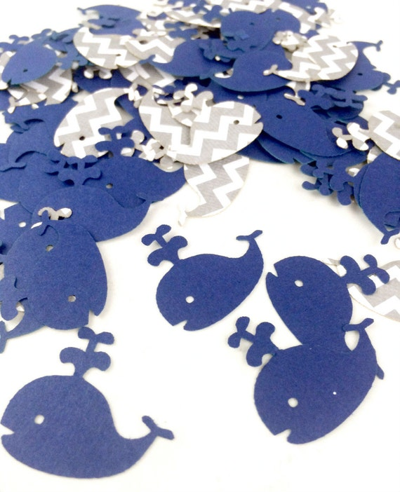 Whale confetti nautical baby shower decorations nautical for Baby confetti decoration