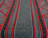 "Beautiful Hmong Natural Indigo Batik Fabric Hand Woven Cotton DIY Fabric Supplies (2.5 m./100"")"