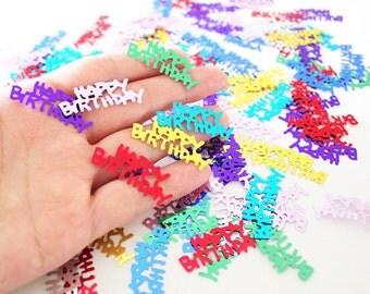 Happy Birthday Foil Confetti, Birthday Decor Shiny Confetti (100+)