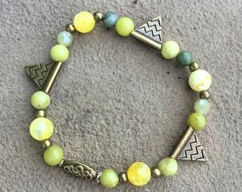 Triangle Chartreuse Bracelet