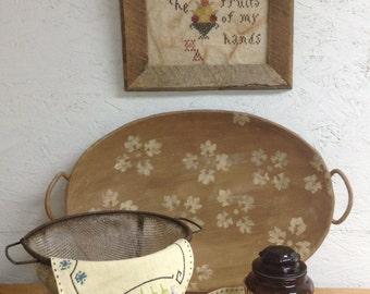 Primitive Farmhouse Collection/Large Brown Bowl Farmhouse Vignette Primitive Vignette