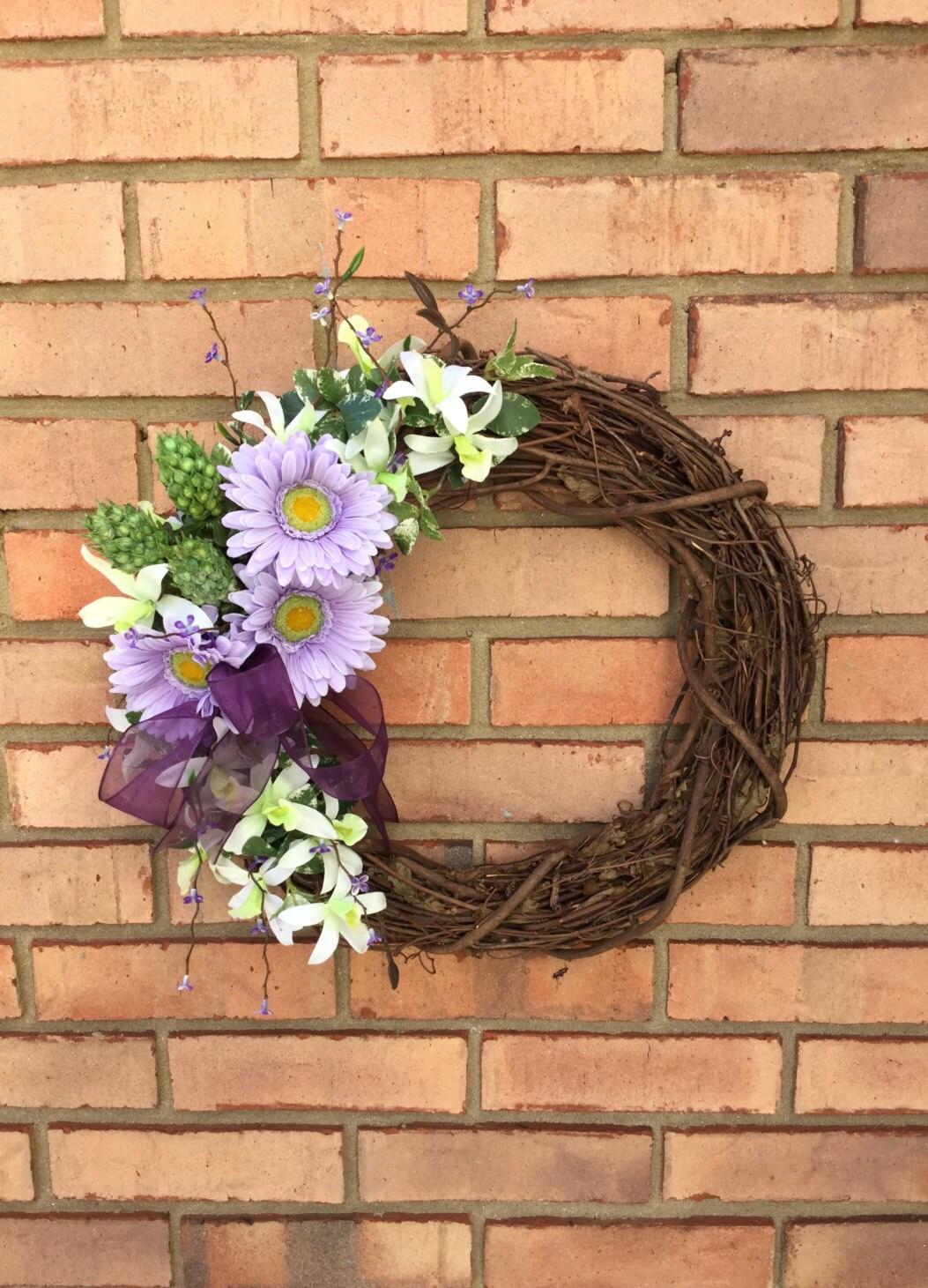 Front Door Wreath For Summer Purple Outdoor By