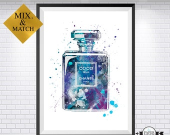 Chanel Perfume print, Chanel, Chanel poster, Chanel print, Chanel Number 5, Chanel home decor, Chanel wall art, Paris wall art