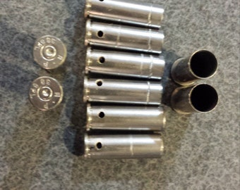 """Drilled empty nickel plated casings, pre-drilled to approx. 3/32"""" diameter"""