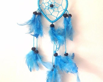 Turquoise Heart Dream Catcher