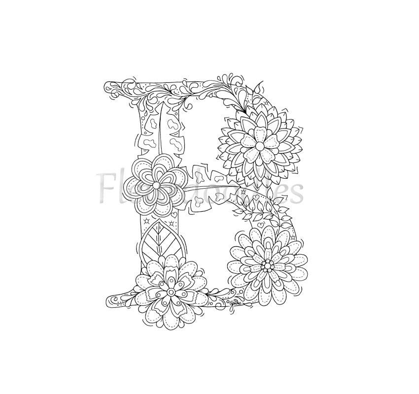 Watermark Fancy Alphabet Letters