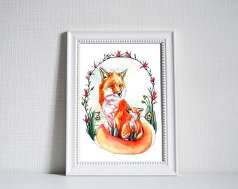 Red Foxes Print