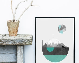 Mid Century Print, Minimalist Poster, Printable Art, Abstract Art, Scandinavian Art, Textured Art, Abstract Wall Art, Home Decor, Wall Decor
