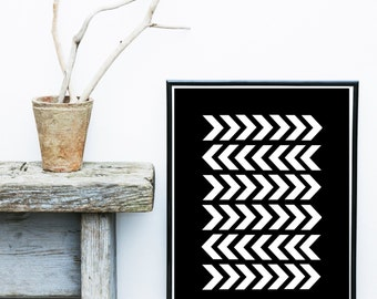 Chevron Print, Printable Art,  Abstract Art, Arrow Print, Scandinavian Art,  Modern Art, Wall Decor, Wall Art, Digital Download