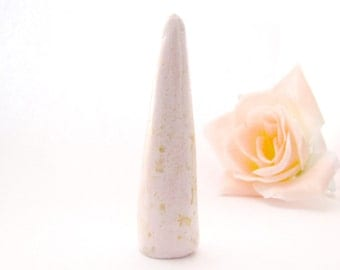 gold ring cone, ring cone holder, ring cone, clay ring cone, modern ring cone, jewelry storage, wedding gift, ring display, gift for her