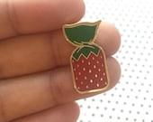 Strawberry Candy Enamel Pin   Strawberry Pin   Hard Enamel Pin   Cloisonne   Candy Enamel Pin