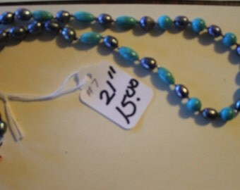 Turquiose and bead necklace