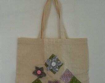 Flower Patch Diamond Tote Bag