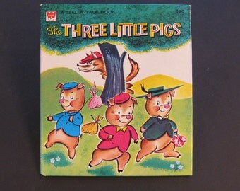 The THREE LITTLE PIGS Whitman Tell a Tale book Ben Williams 1959 hardback New!!!
