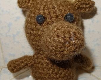 Moose doll - handmade crotchet doll - 6 inches tall