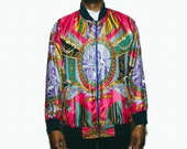 90s Baroque print Casual Jacket - ( Versace Inspired ) : Casual Jacket