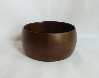 "60s American Walnut Wooden Bowl - Small 5"" Diameter - Didware - Vintage 1960s"