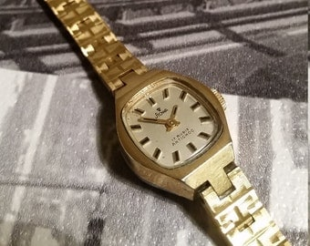 Stowa Vintage Gold Plated Ladies Watch. Mechanical Womens Watch. Gold Ladies Watch. Vintage Womens Watch. Stowa Watch. Vintage Gold Watch