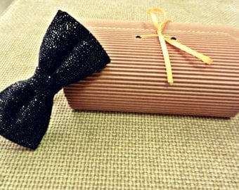 Black sequined bow tie