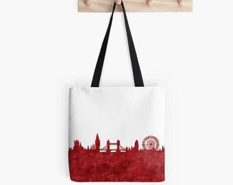 London Skyline Tote Bag. United Kingdom. The Big Ben. London Bridge. London Eye. The Royals.
