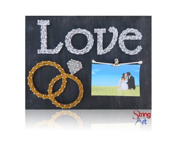 Wedding Gift String Art : ... String Art, Wedding Rings, Wedding Decor, Wedding Gift, Engagement